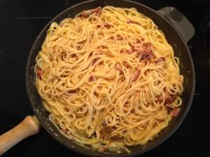 eine dicke Portion Spaghetti Carbonara