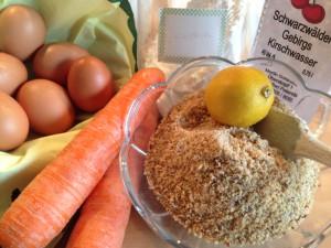 Vorbereitung für den Karottenkuchen