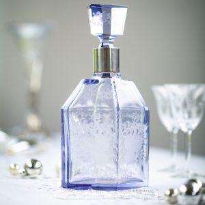 Wunderschönes Unikat: Flasche mit eingraviertem Muster