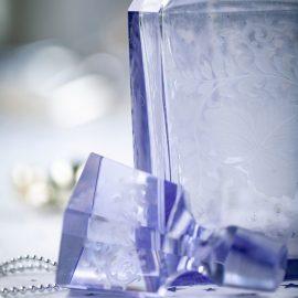 Kristallflasche mit Stöpsel