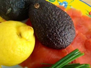 Gesunde Zutaten für den Salat