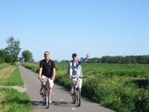 Flache holländische Radwege