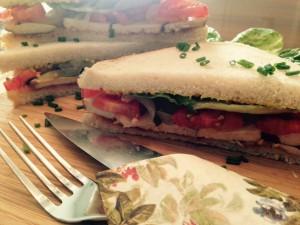 Leckeres Tofu-Sandwich