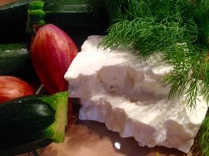 Zutaten für die Zucchinipuffer