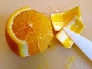 Orangen vorbereiten
