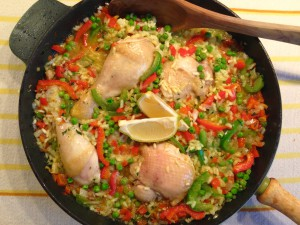 Fertige Hähnchen-Paprika-Paella