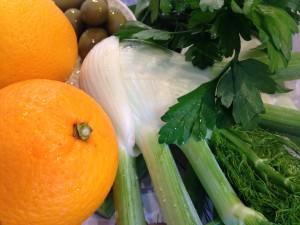 Zutaten für den Sizilianischen Fenchel-Orangen-Salat