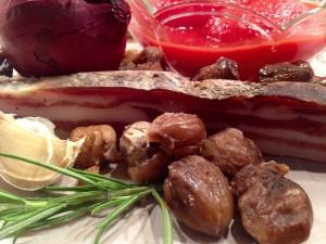 Vorgekochte und geschälte Maronen