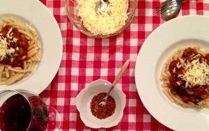 Pasta alla Norma `Diavolo´ mit aromatischer Pfeffer-Chili-Mischung