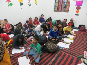 MY SON PARTICIPATED IN THE DRAWING COMPETITION ALONG WITH OTHERS-IT WAS OPEN TO ALL COMOETITION