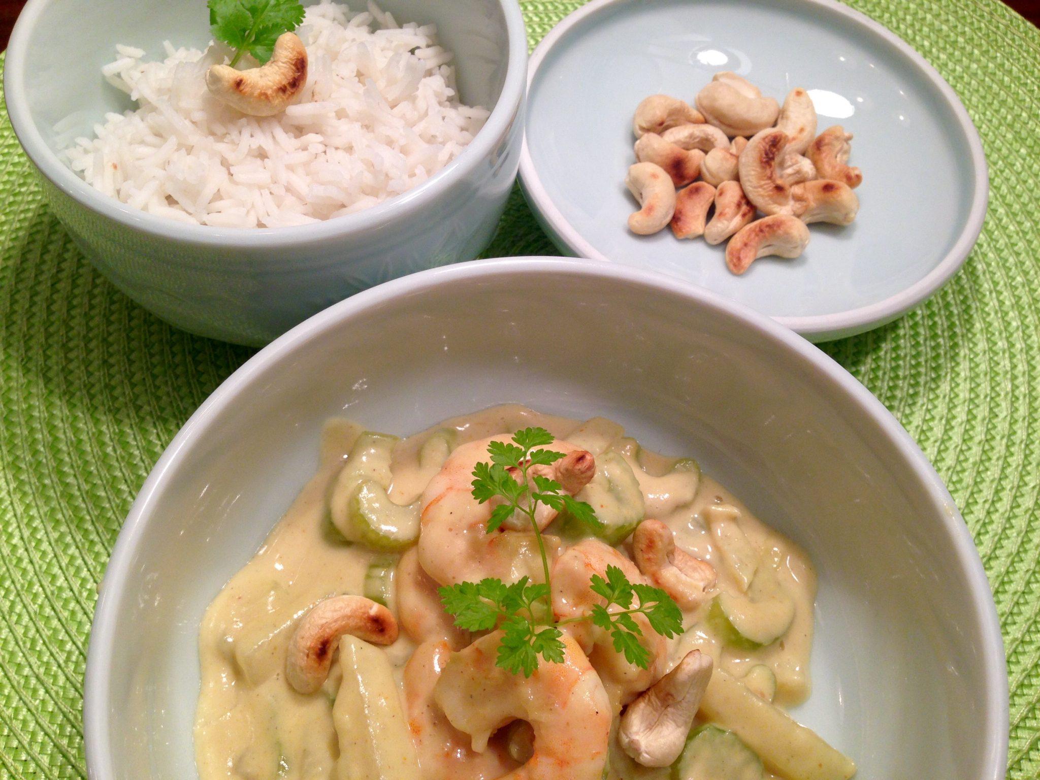 Curry, Ingwer und Cashewnüsse