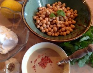 <em>Zutaten für den Hummus</em>