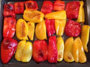 Paprika gebacken im Ofen