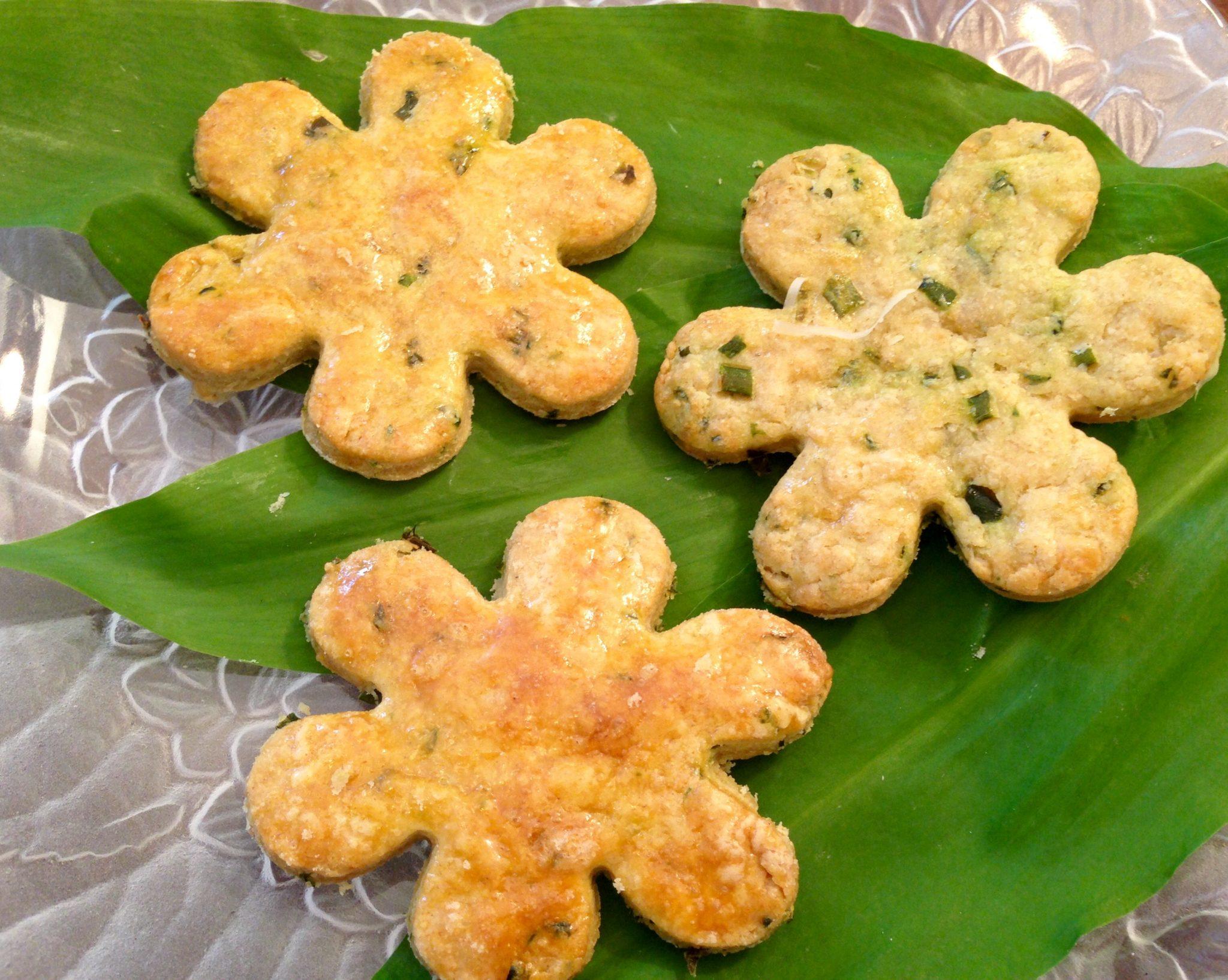 Herzhafte Kekse mit Bärlauch