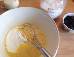 Vorbereitung des Kuchenguss