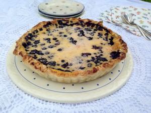 Zum Essen bereit: Vanillepuddingkuchen