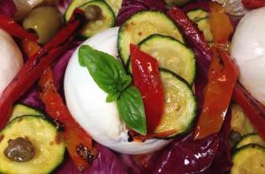Ein vegetarisches Gericht: Burrata