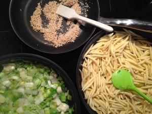 Zutaten für Schupfnudeln und Sauce