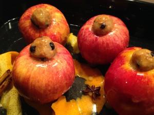 Gefüllte Bratäpfel im Backofen
