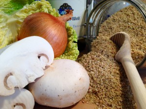 Zutaten für das vegetarische Wirsing-Gericht