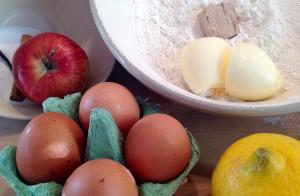 Zutaten Krapfen mit Apfel