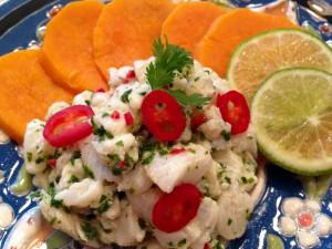 Ceviche - peruanisch marinierter Fisch