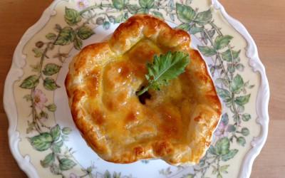 Rezept: Fisch-Gemüse-Blätterteig-Pie