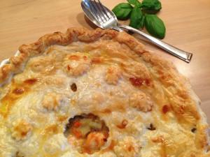 Der noch heisse Fisch-Gemüse-Blätterteig-Pie