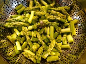 Grüner Spargel - schnell gegart