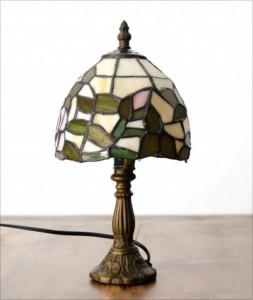 Tiffany-Lampe in Grüntönen
