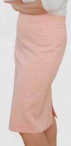 Bleistiftrock in Rosa-Pastell