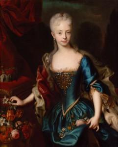 Andreas Møller: das Mädchen Maria Theresia, via Wikimedia Commons