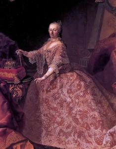 Maria Theresia in einem prächtigen Kleid