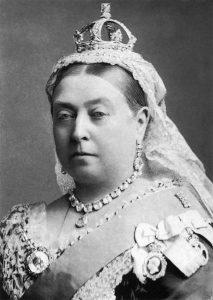 Königin Victoria mit Krone