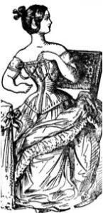 Unbequem zu tragen: Korsett und schwere Unterröcke