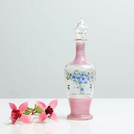 Handbemalte Glasflasche
