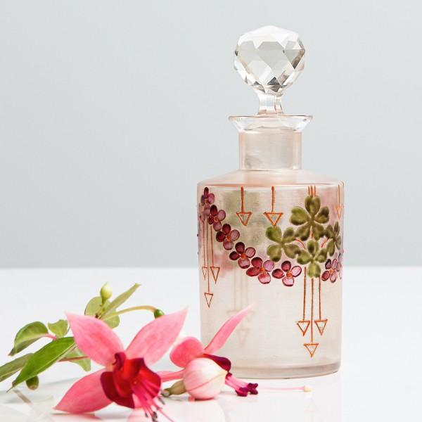 Glasflasche im Art Deco Stil