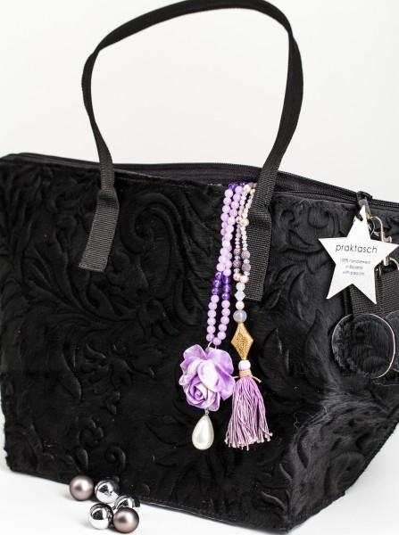 Handtasche Black Lilly - mit schwarzen Details