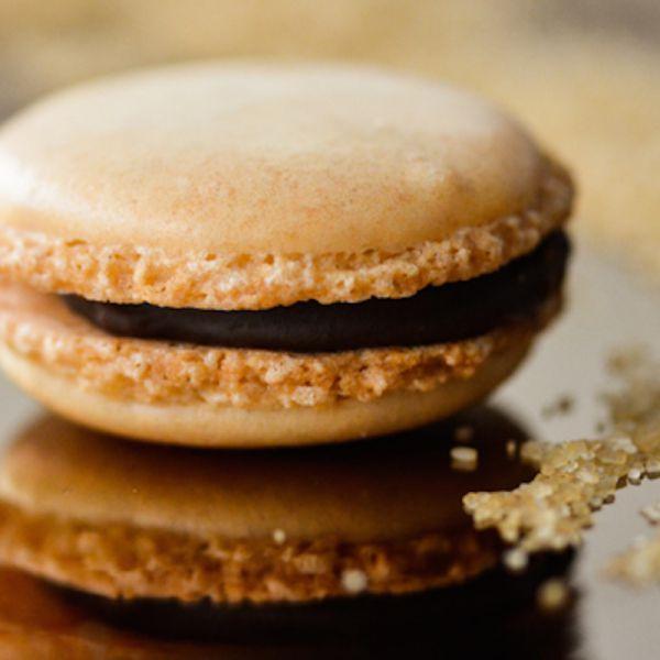 Macarons mit Caramel/Fleur des Sel Füllung
