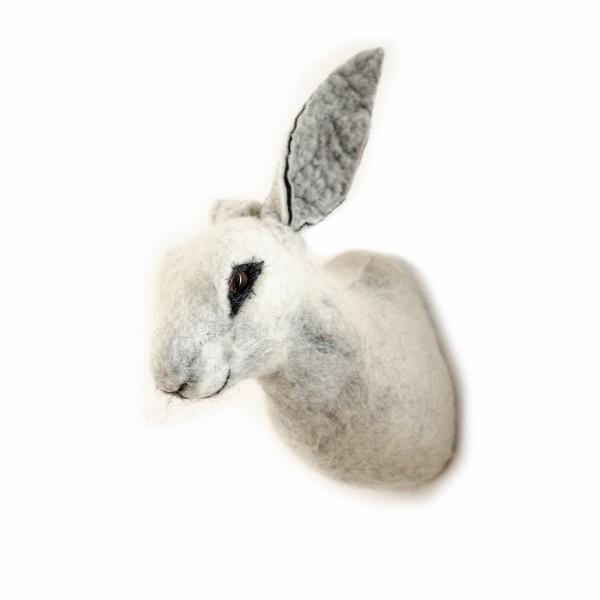 Filz-Hase in Weiss